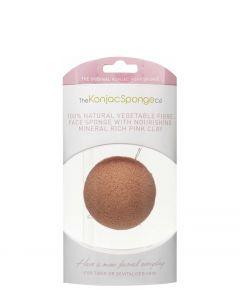 Premium Facial Puff Konjac Sponge med pink ler