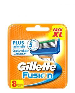 Gillette Fusion Barberblade, 8 stk.
