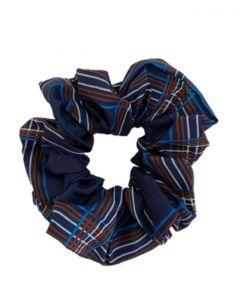 JA•NI hair Accessories - Hair Scrunchie, The Navy Checkered