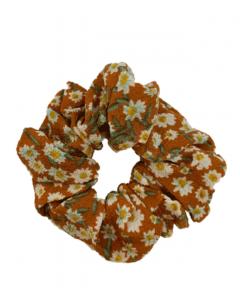 JA•NI Hair Accessories - Hair Scrunchies, The Orange Marguerite