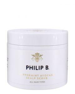 Philip B Peppermint Avocado Scalp Scrub, 236 ml.